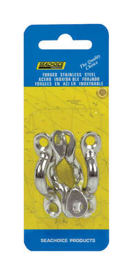 Seachoice  Stainless Steel  1-7/8 in. L x 3/8 in. W Eye Straps  4 pk