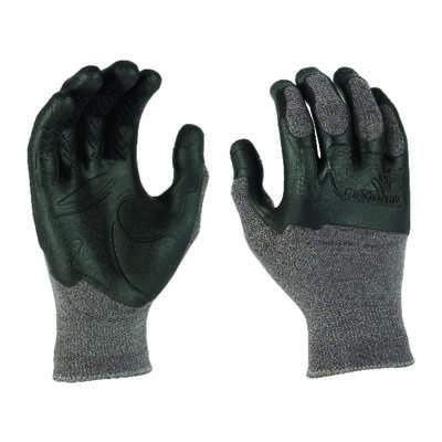 Madgrip  Pro Palm Plus  Unisex  Rubber  Work Gloves  Black/Gray  L  1 pair