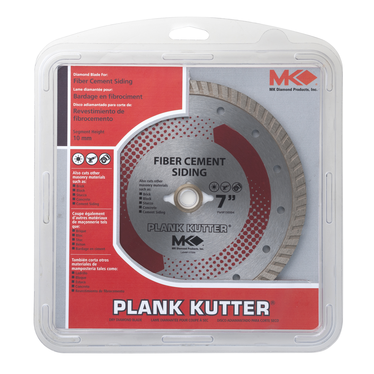 M.K. Diamond  0.08 in.  Plank Kutter  Continuous Rim Circular Saw Blade  5/8  7  Diamond  1 pk