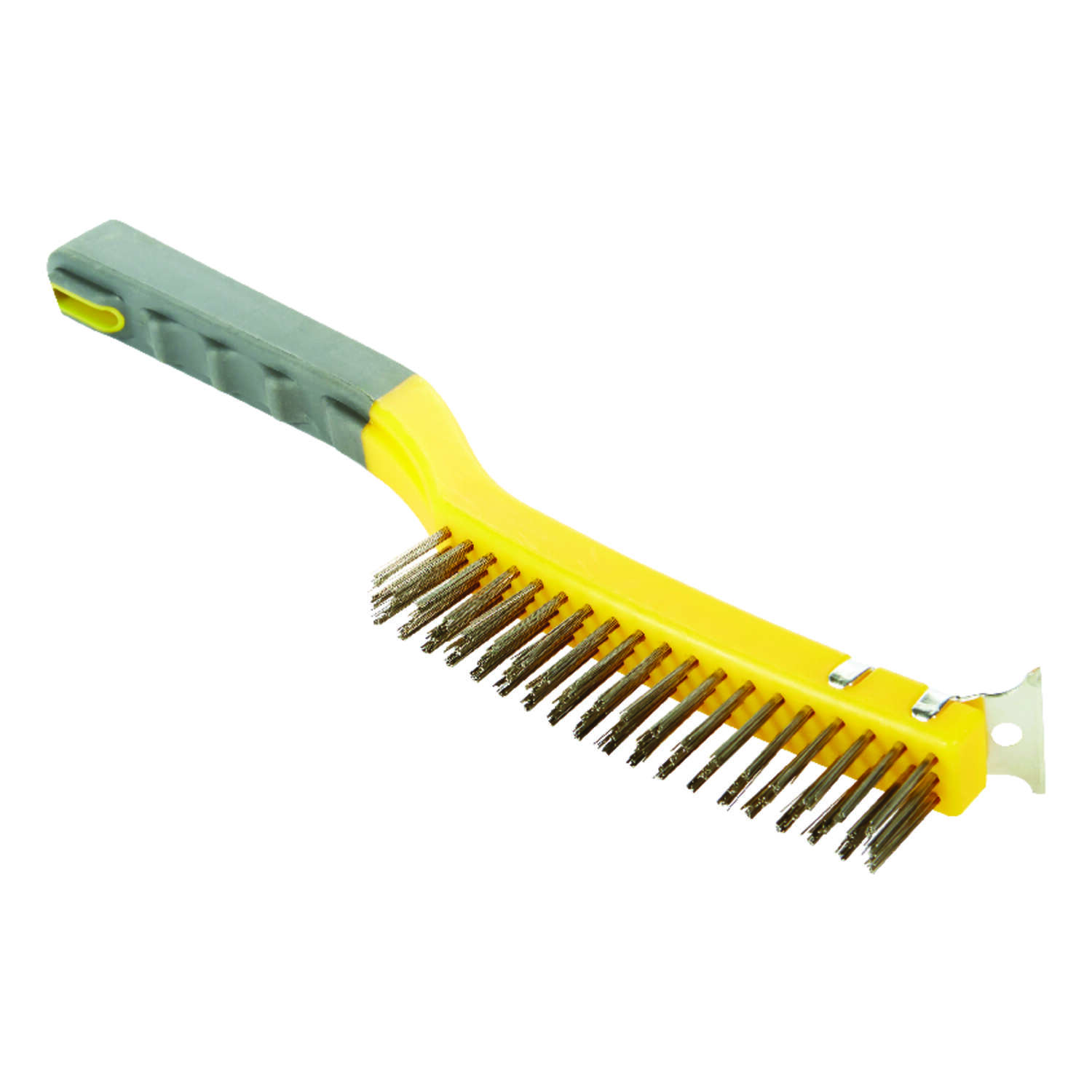 Allway  1 in. W x 13.5 in. L Stainless Steel  Wire Brush with Scraper