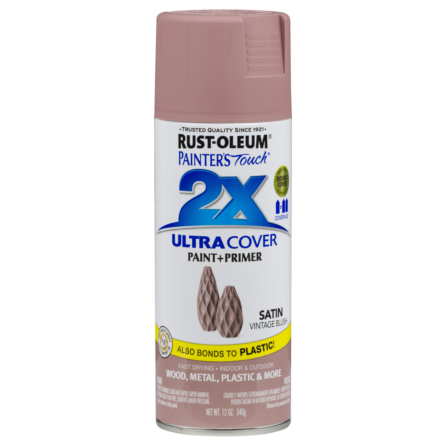 Rust-Oleum  Painter's Touch 2X  Vintage Blush  Spray Paint  12 oz.