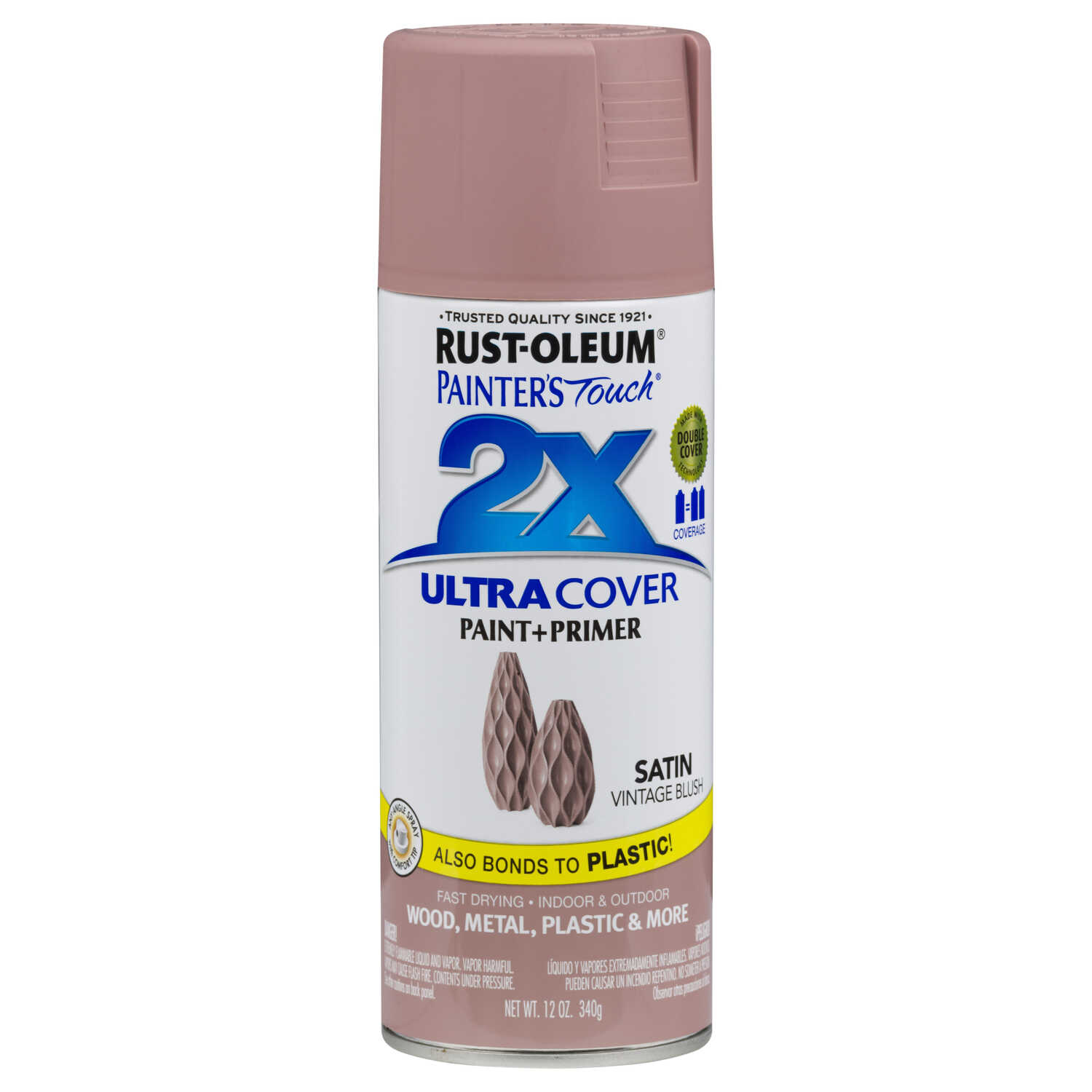 Rust-Oleum  Painter's Touch 2X  Spray Paint  12 oz. Vintage Blush