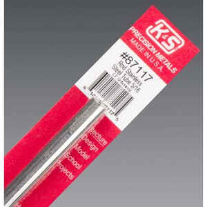 K&S  5/16 in. Dia. x 1 ft. L Stainless Steel Tube  1 each