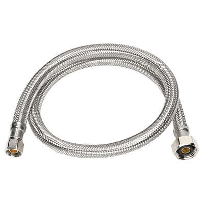 Ace  3/8 in. Compression   x 1/2 in. Dia. FIP  30 in. Stainless Steel  Faucet Supply Line