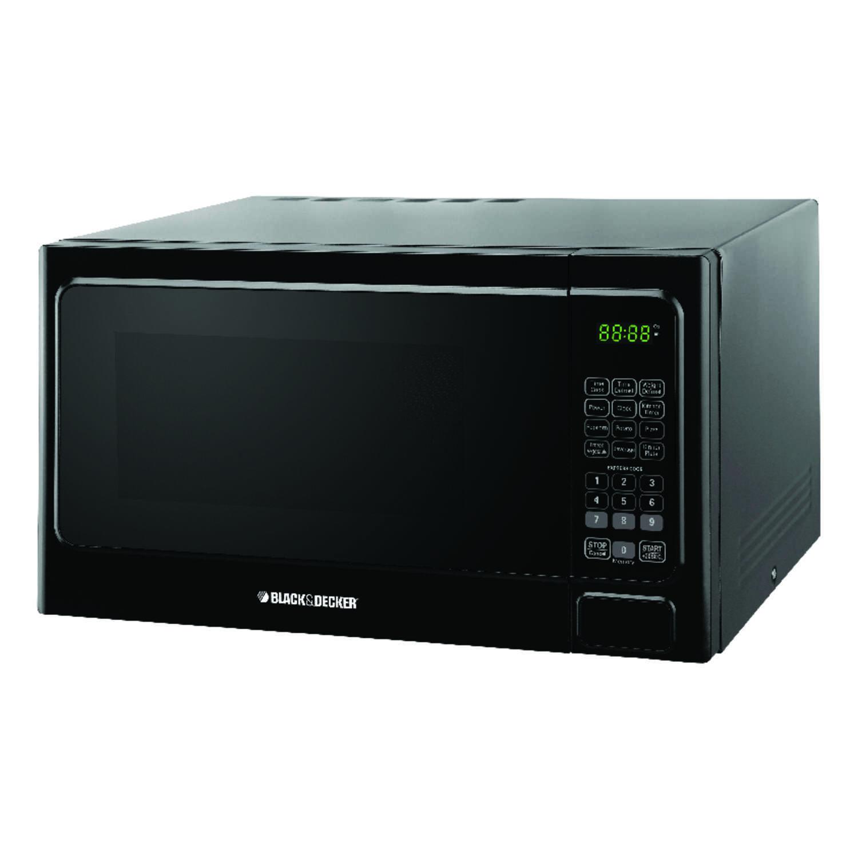Black Decker 1 1 Cu Ft 1000 Watt Microwave Oven: Black & Decker Microwave 1.1 Cu. Ft. 1,000 Watts Black