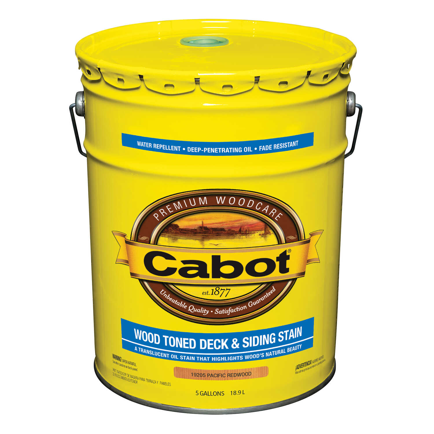 Cabot  Transparent  Pacific Redwood  Oil-Based  Natural Oil/Waterborne Hybrid  Deck and Siding Stain