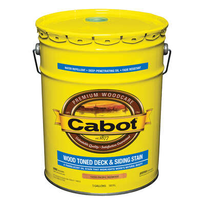 Cabot  Transparent  Pacific Redwood  Oil-Based  Penetrating Oil  Deck and Siding Stain  5 gal.