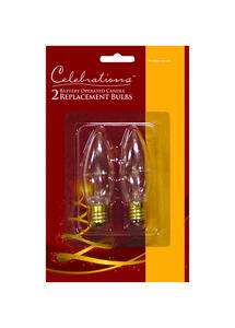 Celebrations  Incandescent  Replacement Bulb  Clear  2 lights