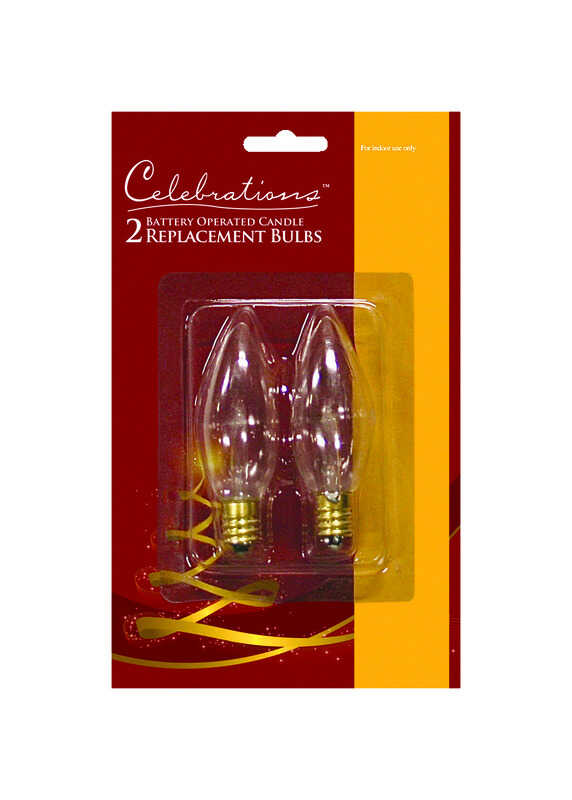 Celebrations  Incandescent  Candle  Clear  2 pk