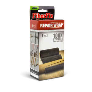 FiberFix  Repair Wrap  4 in. W x 60 in. L Tape  Black