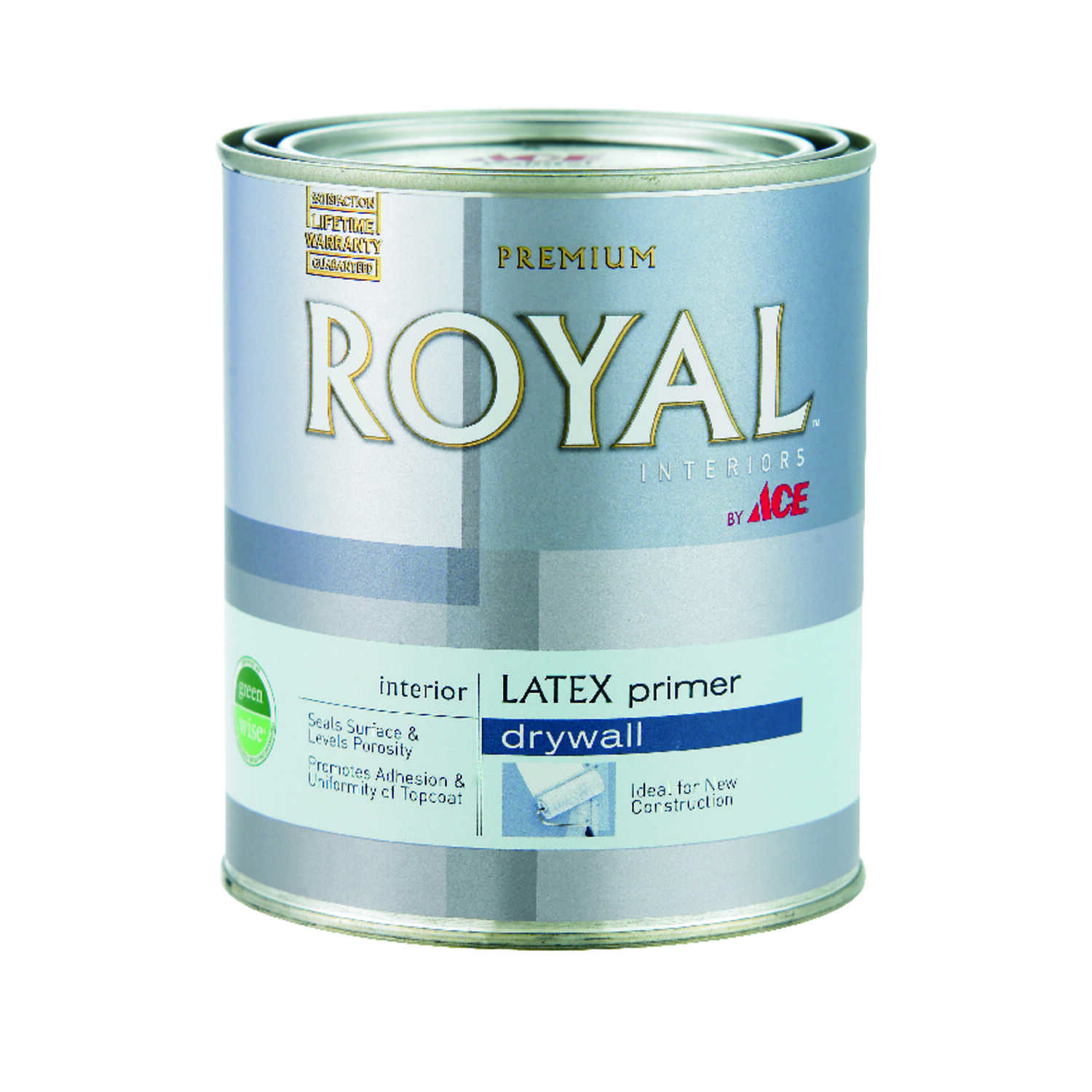 Ace  Royal  Flat  White  Water-Based  Acrylic Latex  PVA Primer  For Drywall 1 qt.