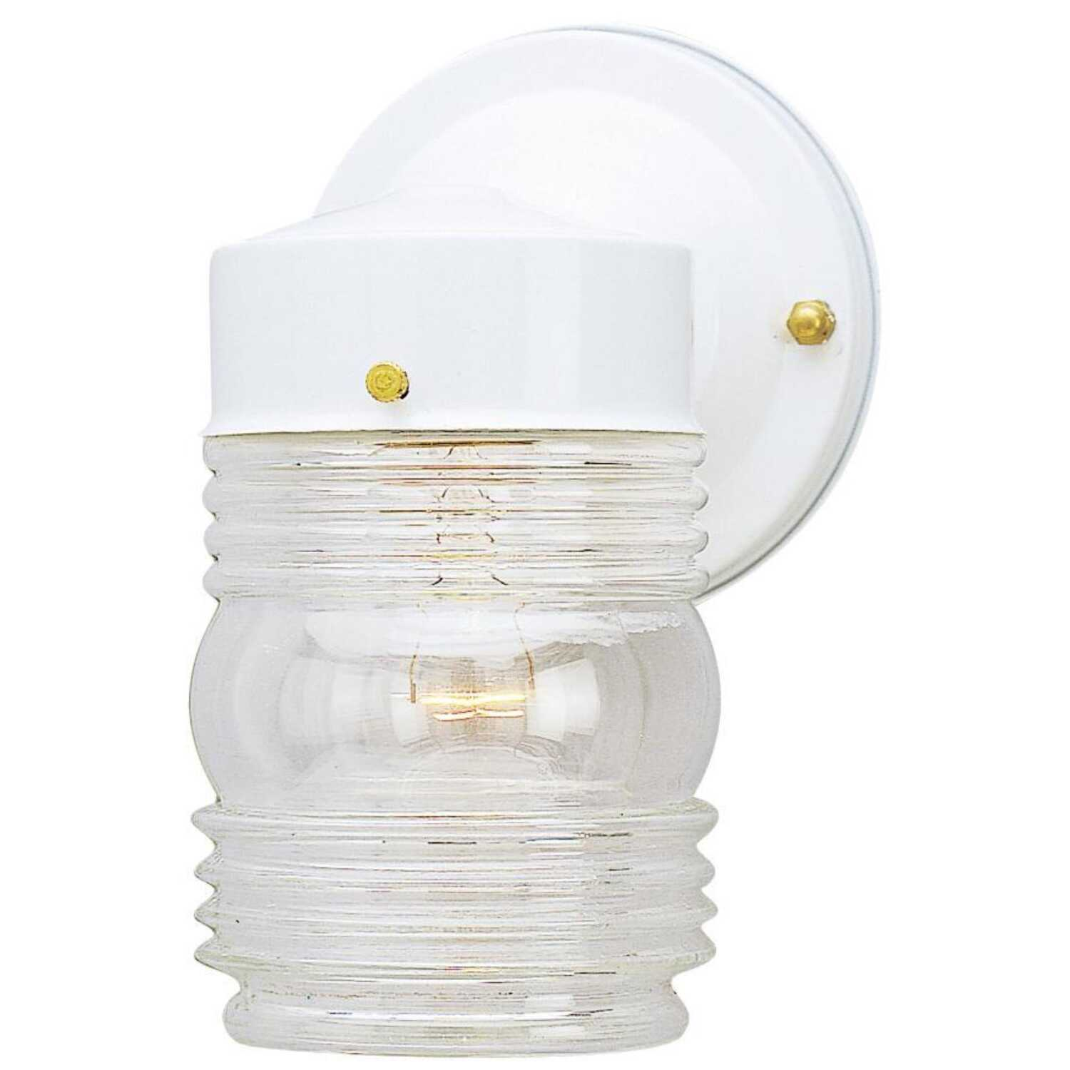 Westinghouse  Patina  White  Incandescent  Wall Lantern