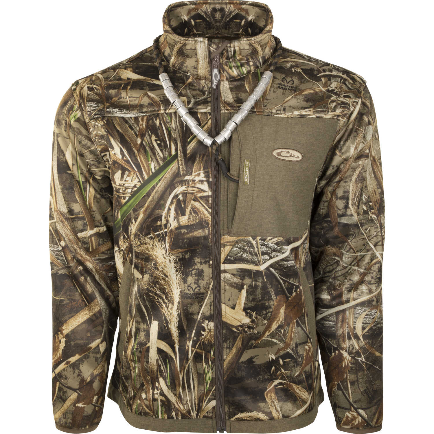 Drake  MST Endurance  L  Long Sleeve  Men's  Full-Zip  Liner  Realtree Max-5
