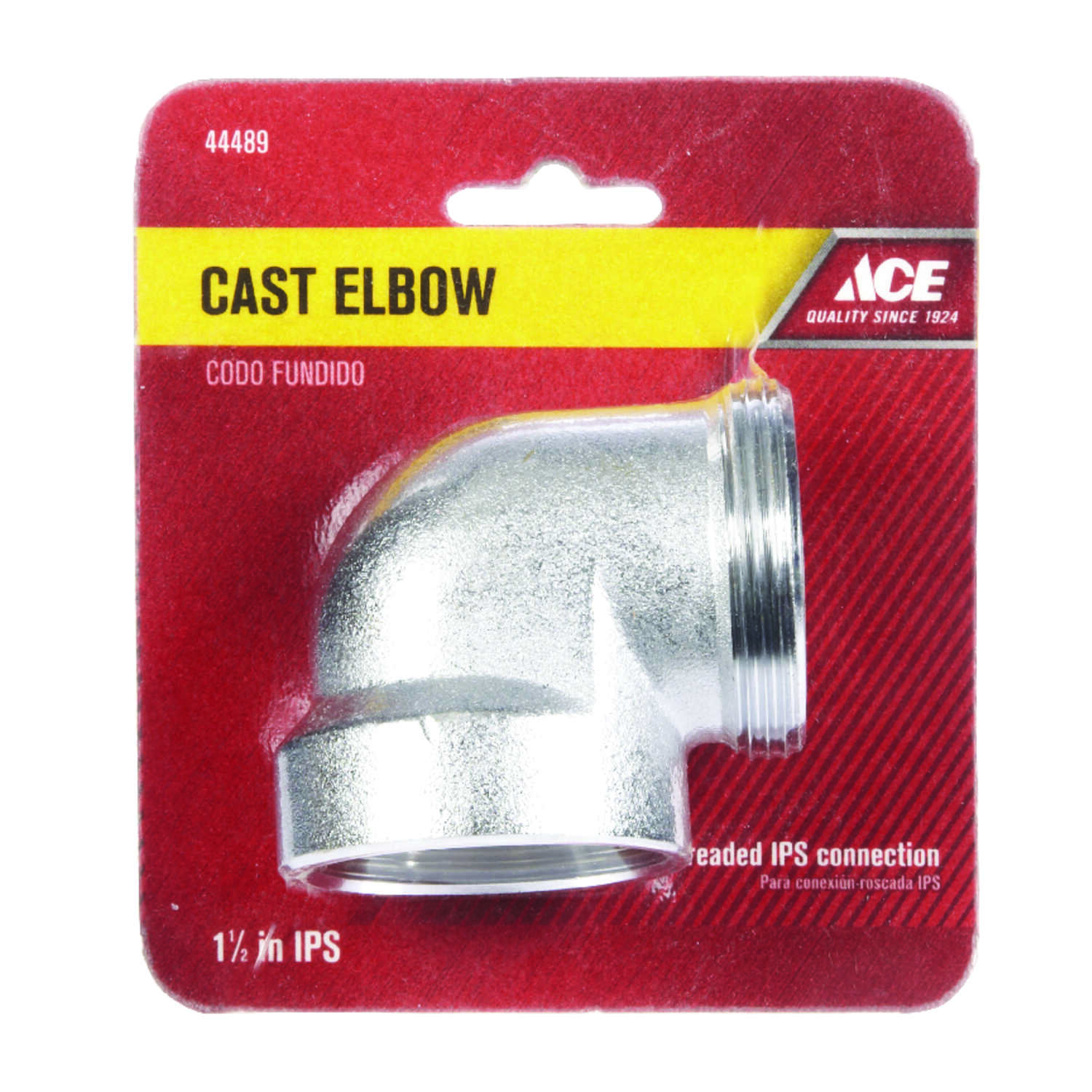Ace  1-1/2 in. Dia. MIPS To FIPS  90 deg. Chrome Plated  Brass  Elbow