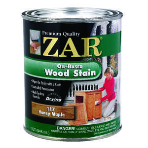 ZAR  Semi-Transparent  Smooth  Honey Maple  Oil-Based  Wood Stain  1 qt.