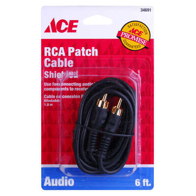 Ace  6 ft. L RCA Plug Cable  RCA