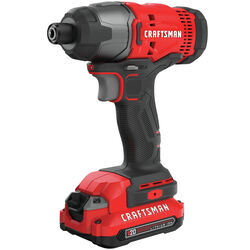Craftsman  V20  20 volt 1/4 in. Cordless  Brushed  Impact Driver  Kit (Battery & Charger)