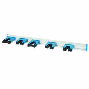 Unger  Telescoping Silver/Blue  28.5 in. Dia. x 3.25 in. L Cleaning Tool Handle Holder  Steel  Multi