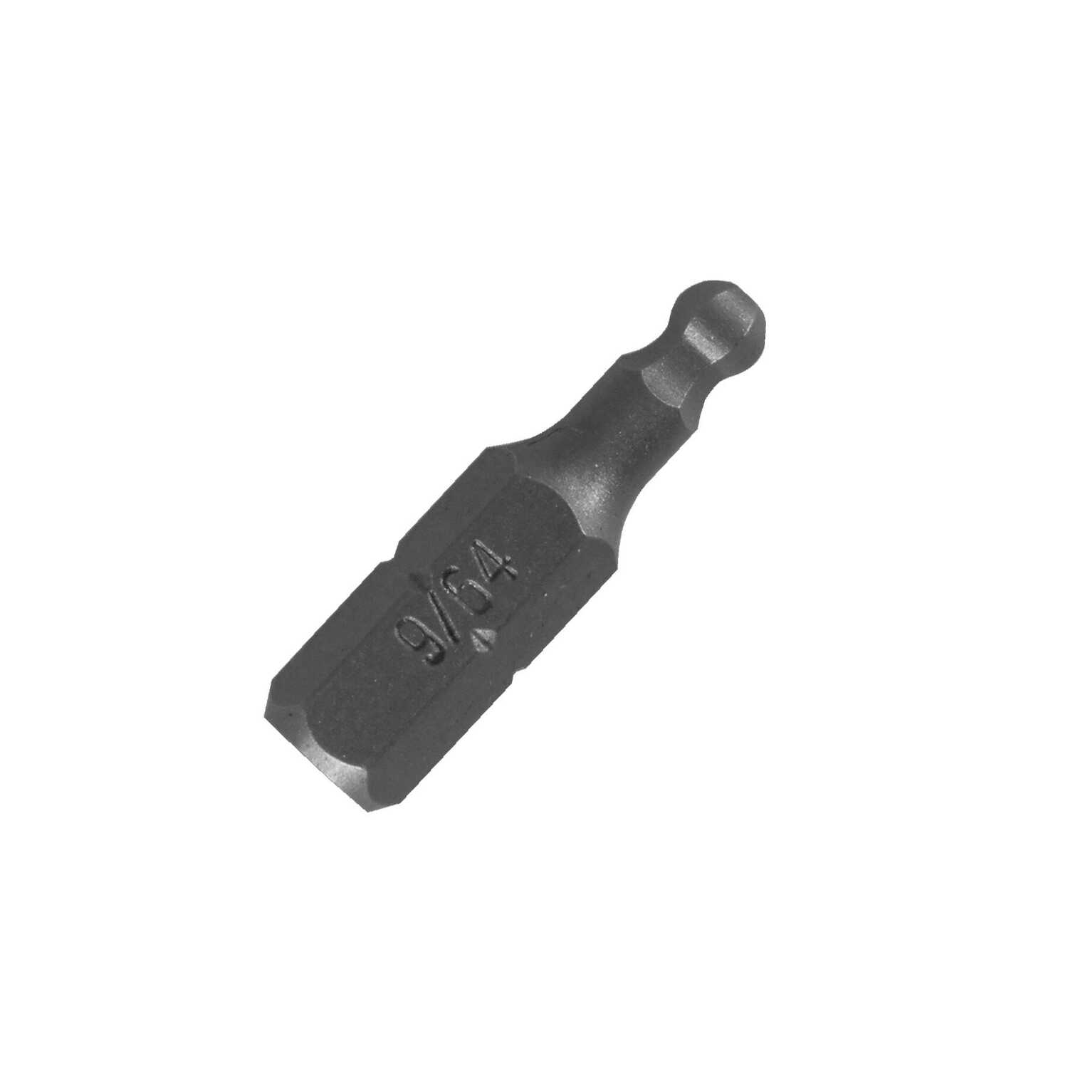 Best Way Tools  Ball Hex  1/4 in.  x 1 in. L Insert Bit  Carbon Steel  1/4 in. Ball Hex Shank  1 pc.