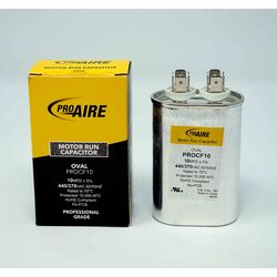 Perfect Aire ProAire 10 MFD 370 volt Oval Run Capacitor