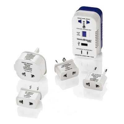 Travel Smart Type A, Type B, Type C, Type E, Type F, Type G For Worldwide Two Outlet Converter
