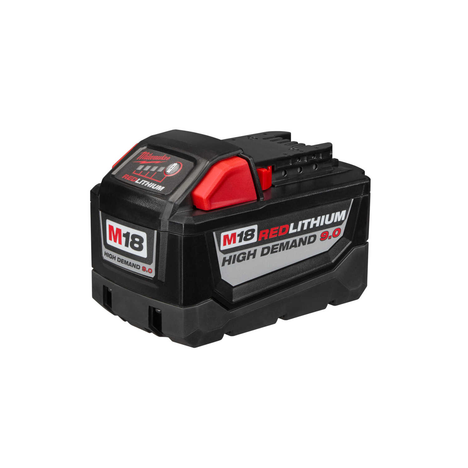 Milwaukee  M18 REDLITHIUM  HD9.0  18 volt 9 Ah Lithium-Ion  High Capacity Battery Pack  1 pc.