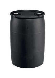 EarthMinded  Black  55 gal. Industrial Drum  Polyethylene