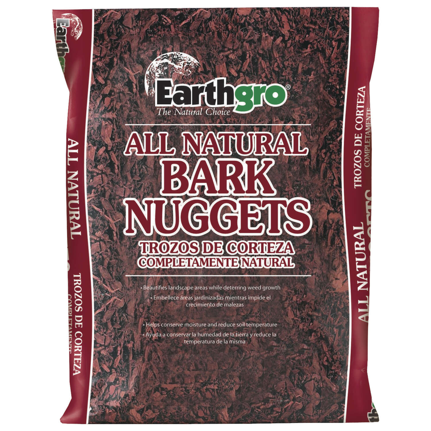 Earthgro  Natural  Bark Nuggets  Mulch  2 cu. ft.