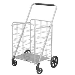 Apex 40.6 in. H x 21.5 in. W x 24.8 in. L Silver Collapsible Shopping Cart