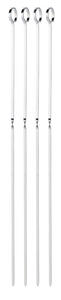 Grill Mark  18 in. L Silver  Stainless Steel  BBQ Skewers  4 each