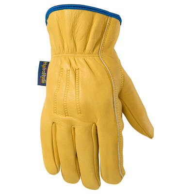 Wells Lamont  Men's  Cowhide Leather  Heavy Duty  Work Gloves  Gold  L  1 pair