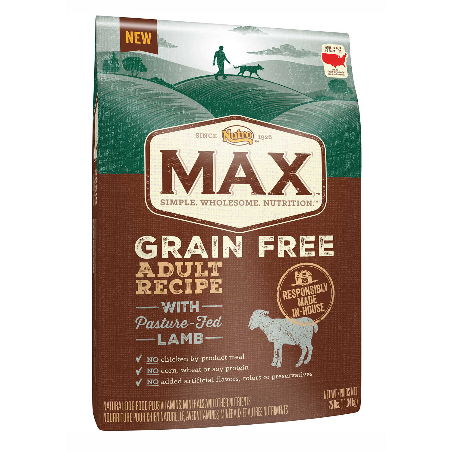 Nutro  Max  Grain Free Lamb  Dog  Food  25