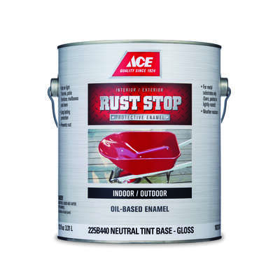 Ace  Rust Stop  Indoor / Outdoor  Gloss  Tint Base  Neutral Base  Oil-Based Enamel  Rust Preventativ