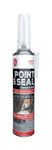 GE  Point and Seal  Silicone 2  White  Sealant  7.25 oz.