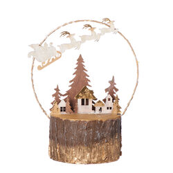 Roman  LED Deer with Wire Tree Figure  Christmas Decoration  Brown  MDF  1 pk