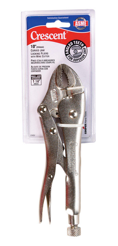 Crescent  10 in. Alloy Steel  Curved Pliers  Red  1