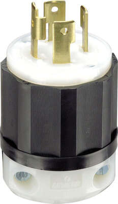 Leviton  Industrial  Nylon  Curved Blade/Ground  Locking Plug  L14-30P  14-8 AWG 3 Pole 4 Wire  Bagg
