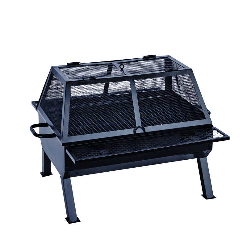 Living Accents  Rectangular deep fire bowl  Wood  Fire Pit/Grill  35 in. D x 26 in. W x 26 in. H Ste