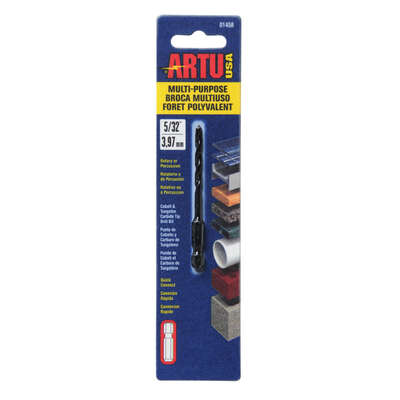 ARTU 5/32 in. x 3-1/8 in. L Tungsten Carbide Tipped Drill Bit 1 pc.