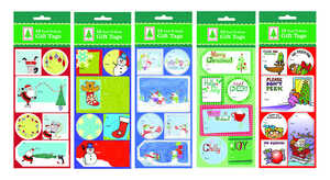 Paper Magic  Multi-Color  Peel N Stick  Gift Tags