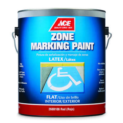 Ace  Red  Zone Marking Paint  1 gal.