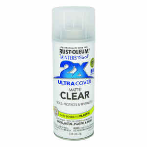 Rust-Oleum  Painter's Touch Ultra Cover  Matte  Clear  Spray Paint  12 oz.