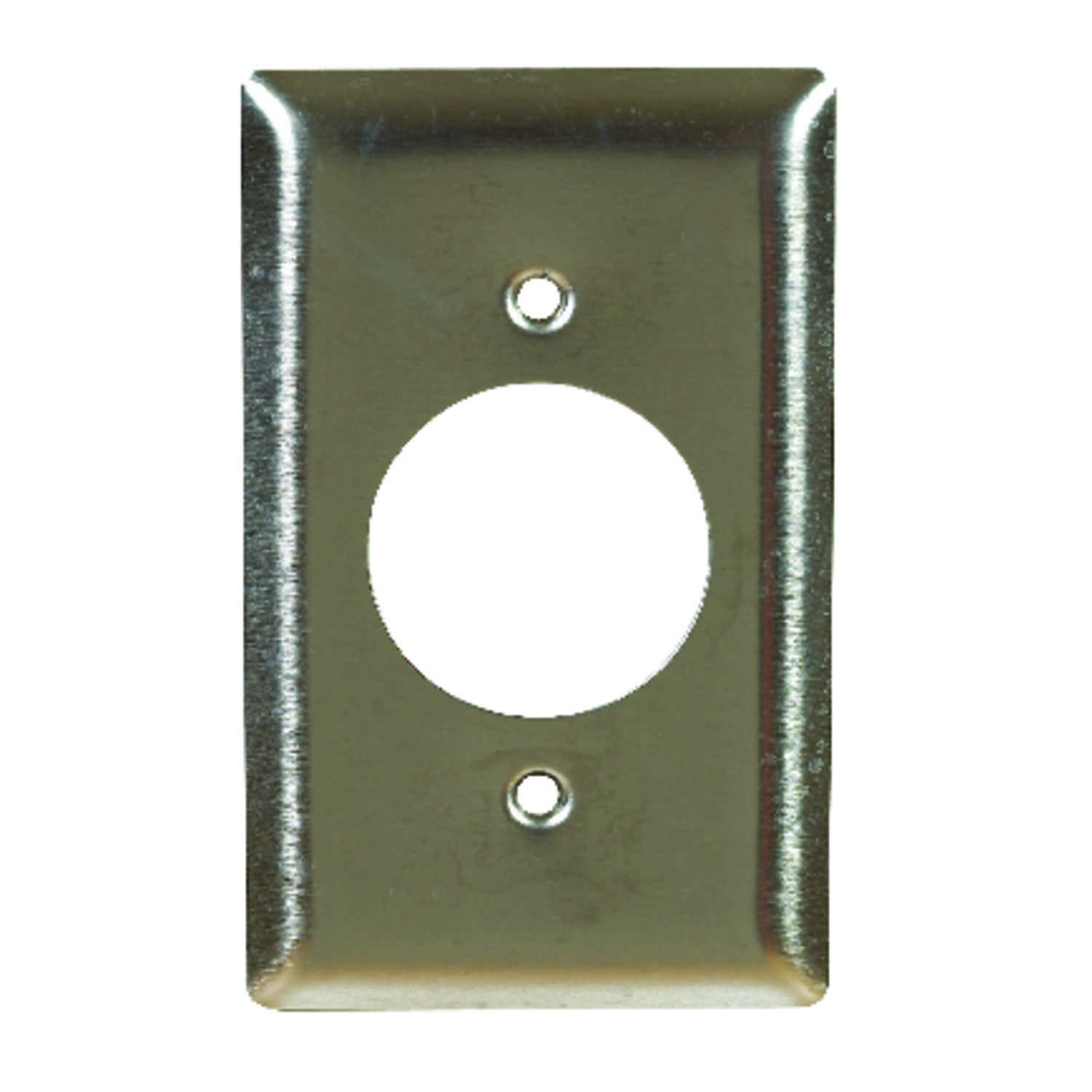 Pass & Seymour  Silver  1 gang Wall Plate  1 pk Stainless Steel