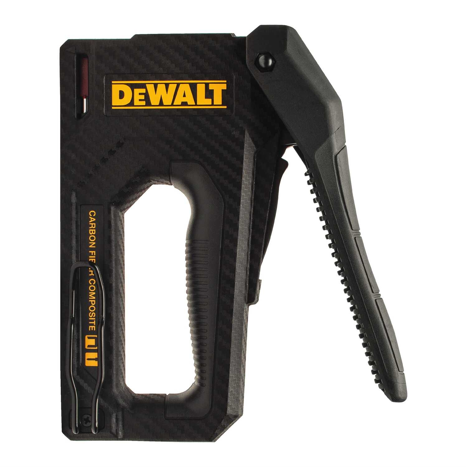 DeWalt  18 Ga. Carbon Fiber Composite Staple Gun  Yellow/Black