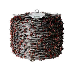 Red Brand  1320 ft. L 12 Ga. 2-point  Galvanized Steel  Barbed Wire