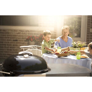 Weber  Performer Deluxe  Charcoal  Kettle  Black  22 in. Grill