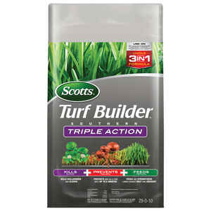 Scotts  Turf Builder Triple Action  29-0-10  Weed Control Plus Lawn Food  For Southern 26.64 lb. 800