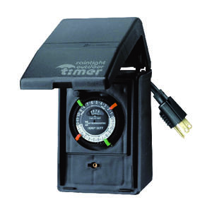 Intermatic  Outdoor  Heavy Duty Timer  Black