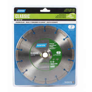 Norton  Classic  7  Diamond  Segmented Rim Saw Blade  0.09 in.  5/8 and 7/8 in.  1 pk