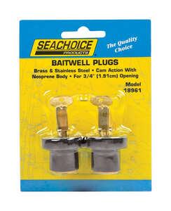 Seachoice  11.5 in. L x 3/4 in. W Deck and Baitwell Plugs  Stainless Steel  2 pc.
